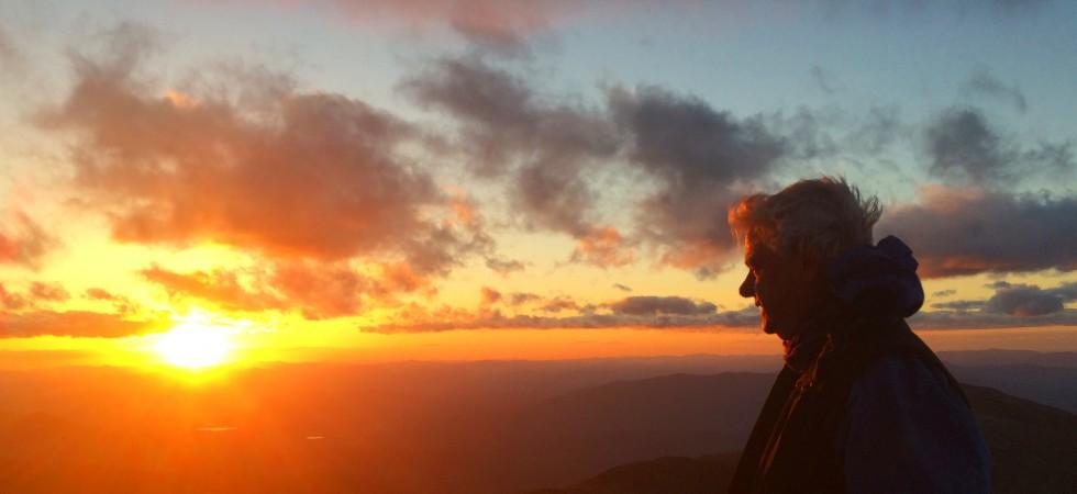 The Summit of Mt Washington at Sunset