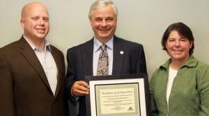 Certificate of Appreciation Presented to Jeb Bradley