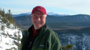 Jeb hiking Zealand Mountain, one of New Hampshire's 4,000 foot peaks